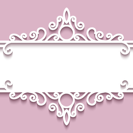page: Abstract background with paper divider, header, ornamental frame Illustration