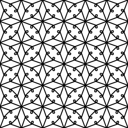 tatting: Black and white lace texture, seamless pattern, Illustration