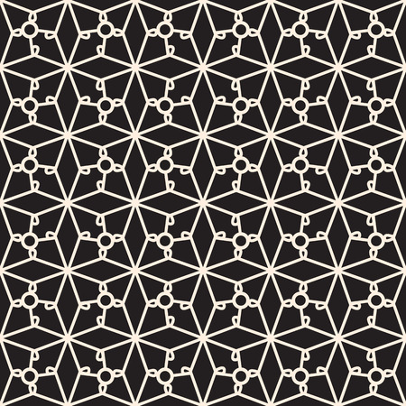 tatting: Seamless lace pattern, lacy grid, black and white lattice, lacework ornament Illustration