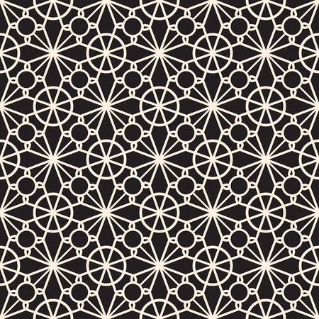 guipure: Elegant lace ornament, seamless pattern, tatting or crochet lace texture Illustration