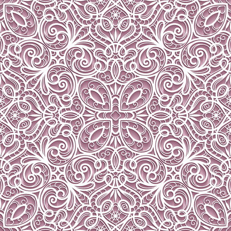 lacy: Abstract paper lace texture, lacy ornament, seamless pattern