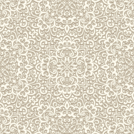 beige: Vintage background in neutral color, white seamless pattern