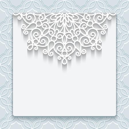 marcos redondos: Elegante la tarjeta de fecha con decoración de encaje, invitación de la boda de la vendimia o la plantilla anuncio