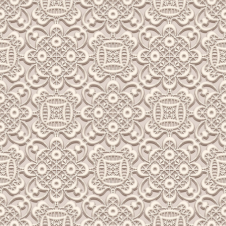 lacework: Vintage lacy ornament, handmade lace texture, seamless pattern Illustration