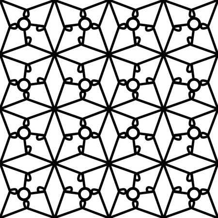 grid texture: Abstract black and white  geometric ornament, lace grid texture, seamless pattern
