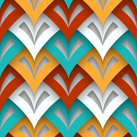 Cutout paper texture, geometric seamless pattern Illustration