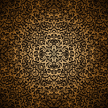 ornamental background: Vintage gold seamless pattern, ornamental background
