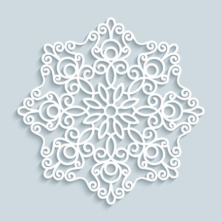 Papier Spitzendeckchen, Dekorative Schneeflocke, Mandala, Rund ...