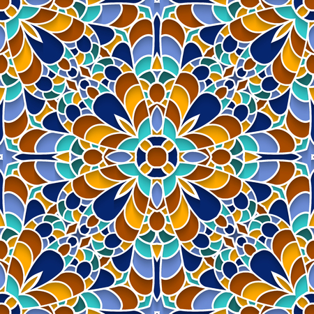 추상 모자이크 텍스처, 장식 세라믹, 마졸리카, 원활한 패턴
