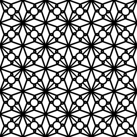 lattice: Abstract black and white ornament, lace texture, seamless pattern Illustration