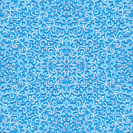 swirly: Abstract swirly ornament, bright blue texture, seamless pattern