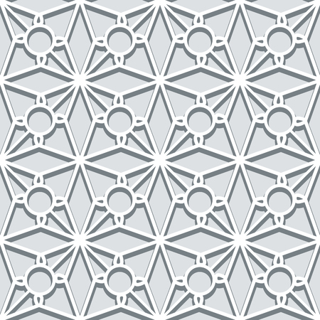 neutral: Grey lattice background, lace texture, seamless pattern in neutral color