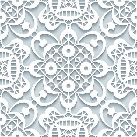 encaje: Ornamento papel recorte, encaje textura, patrón de encaje transparente en colores neutros