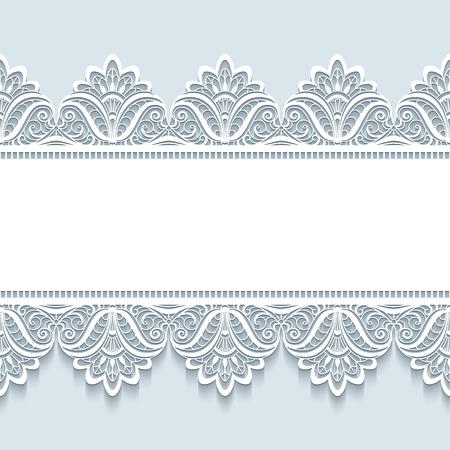 Vintage cornice con ornamento senza soluzione di continuità bordo in pizzo, Buon Natale sfondo, elegante biglietto di auguri o invito modello Archivio Fotografico - 48900967