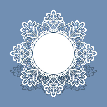 lace doily: Paper lace doily, greeting card, wedding invitation or announcement template