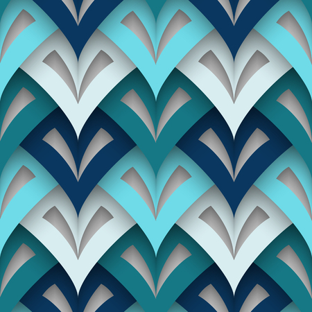 lamellar: Cutout paper texture, abstract geometric seamless pattern