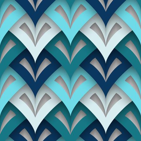 lamellar: Cutout paper texture, abstract geometric seamless pattern