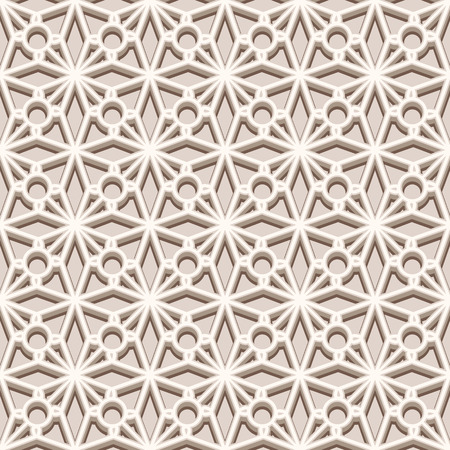 picot: Vintage beige ornament, lace texture, seamless pattern in neutral color