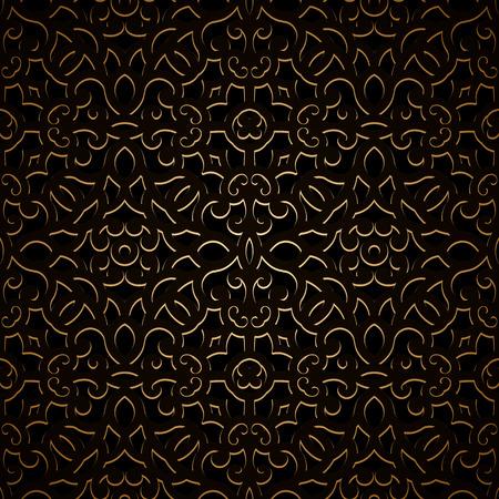 metal lattice: Vintage gold seamless pattern, ornamental background