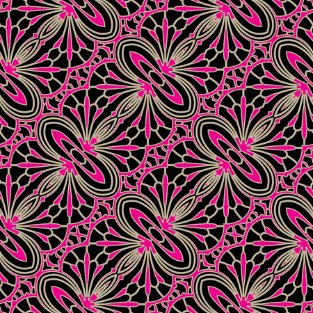 ornaments floral: Colorful ornament, elegant lace texture, seamless pattern
