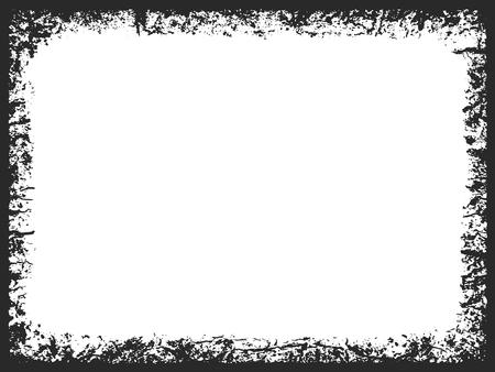 crannied: Rectangle grunge frame on white background Illustration