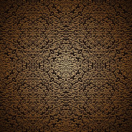 metal pattern: Vintage gold seamless pattern, ornamental swirly background