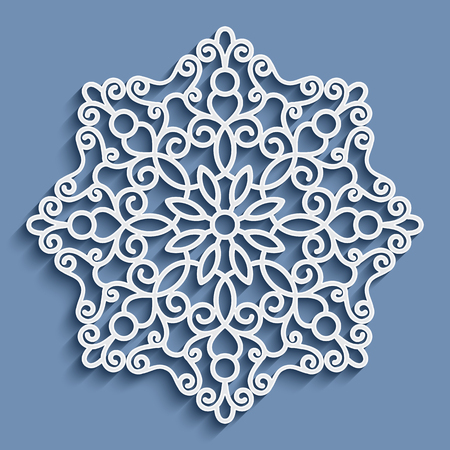 crochet: Paper lace doily, decorative snowflake, mandala, round crochet ornament
