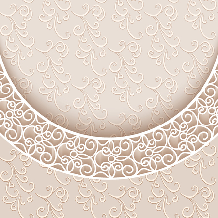 Elegant background with lace decoration, vintage greeting card or invitation template