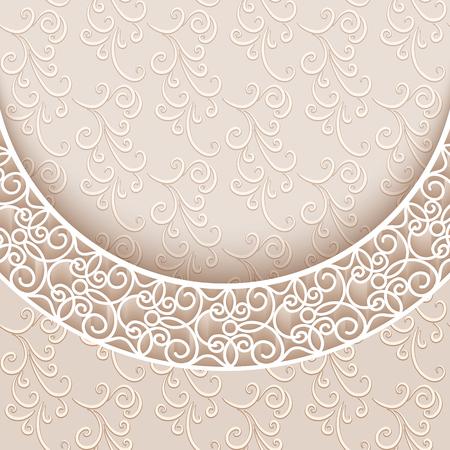 Fondo elegante con el cordón de la decoración, tarjeta de felicitación de cosecha o modelo de la invitación
