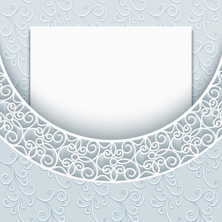 greeting card background: Elegant background with lace decoration, greeting card or invitation template
