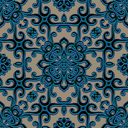 swirly: Vintage swirly ornament, arabesque, decorative seamless pattern