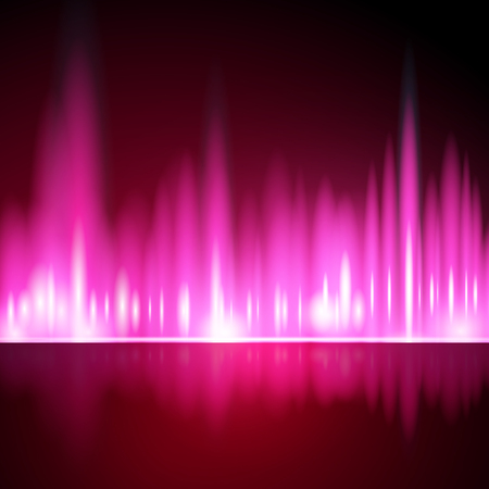 aurora borealis: Abstract background, aurora borealis lights in pink color