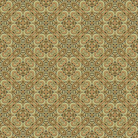 green carpet: Abstract green ornament, seamless pattern