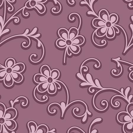 Résumé ornement floral rose, motif sans couture de petites fleurs Vecteurs