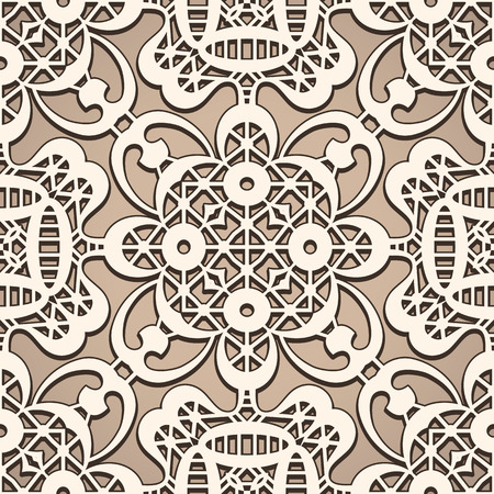 lacy: Seamless lace pattern, lacy texture, vintage beige background Illustration