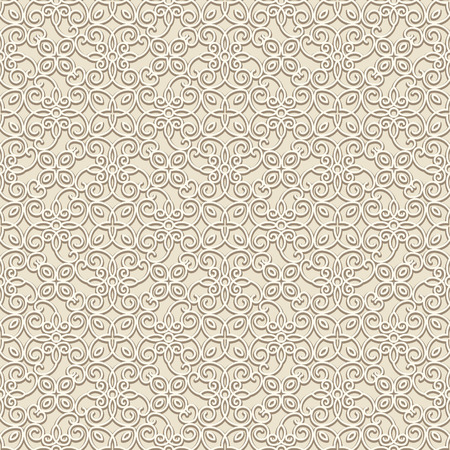 Beige background, vintage ornament, lace texture, seamless pattern in neutral color