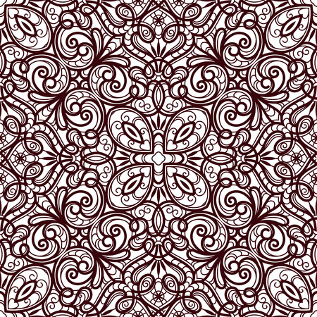 lacework: Abstract lacy ornament, lace texture, seamless pattern