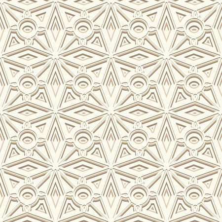carving: White ornamental background, seamless pattern in neutral color Illustration