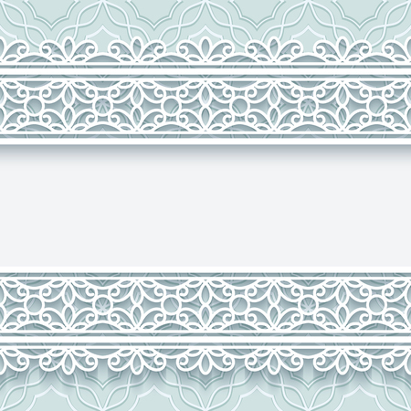 Paper lace background, decorative frame with tulle border ornament