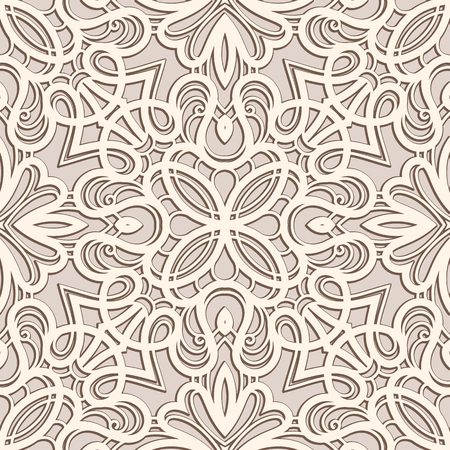 Vintage ornament, lace texture, seamless pattern