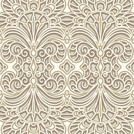floral tracery: Vintage ornament, lace texture, seamless pattern