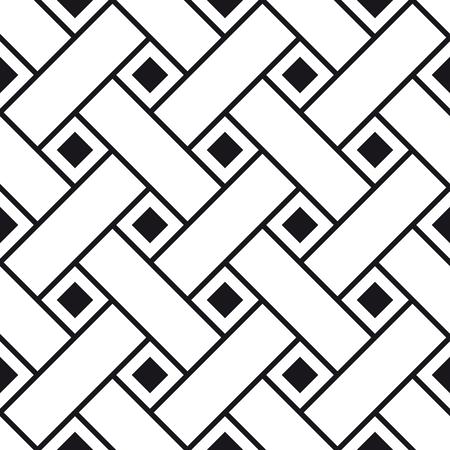 Seamless pattern di interlacciamento strisce di carta, ornamento geometrico astratto