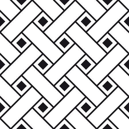 Seamless pattern of interlacing paper strips, abstract geometric ornament