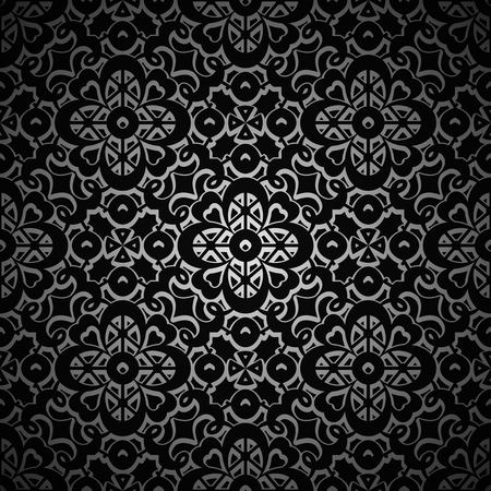 swirly: Vintage decorative black background, swirly dark pattern