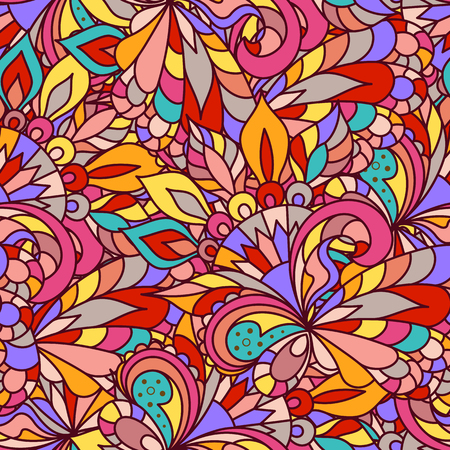 gaily: Abstract colorful seamless pattern, bright motley background, vivid ornament for wrapping paper design