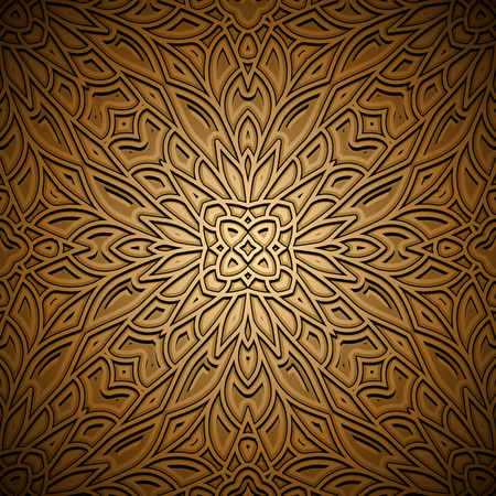 golden texture: Vintage gold seamless pattern, ornamental decorative background Illustration