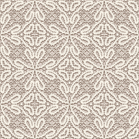 vintage lace: Vintage tulle background, handmade tatting lace fabric texture, seamless pattern Illustration