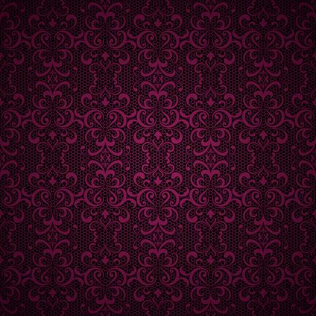 rosa negra: Fondo del cordón de la vendimia ornamentales, swirly textura de tul