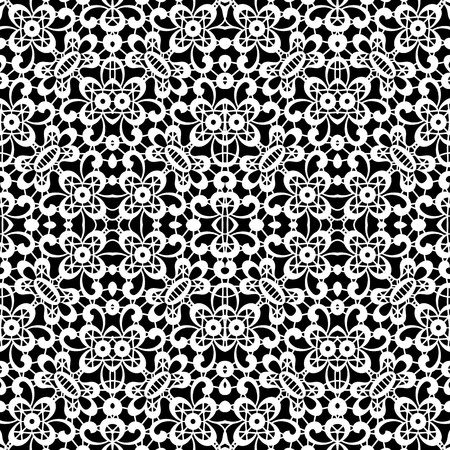 lace pattern: Black and white lace texture, seamless tulle pattern