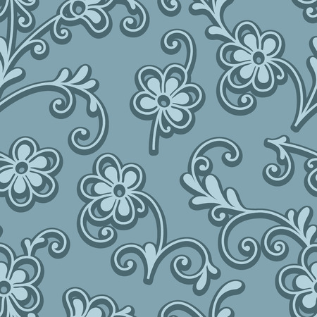 petites fleurs: Abstract floral ornament, seamless pattern of small flowers